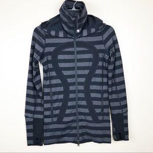 Lululemon women's  2 XS macro stripe stride jacket